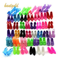 Wholesale 40 Pair Different Styles High Heel Sandals Shoes Boots For Barbie Doll Princess
