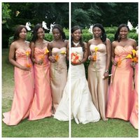 africa photos - New Arrival Africa Fashion Sweetheart Pleated Sheath Column Sweep Train Bridesmaid Formal Dresses Custom From China Bridesmaid Wedding Gowns