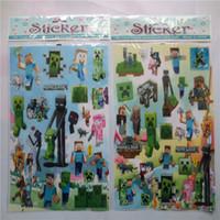 Wholesale 24 x25 cm Minecraft Stickers Minecraft D Cartoon Wall Sticker Cartoon Minecraft Sticker Kids Gift