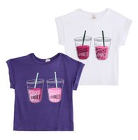 baby soda - 2015 Fashion Baby Kids Boys Girls summer Cartoon Soda Drink Tops shirt Y