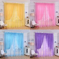 Wholesale Colorful Flower Print Floral Voile Window Curtain Home Beautiful Panel Divide Screen Door Room Decoration