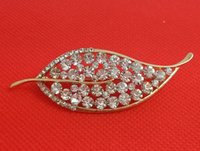 aqua gas - Austrian crystal rhinestone drill style full of leaves noble gas jewelry fashion brooches