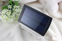 backup battery power for home - 100 real mah Dual USB Portable Solar Power Bank Backup External Battery Solar Charger for GPS MP3 PDA Mobile Phone