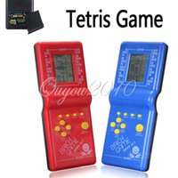 Wholesale Hot Sale Newest Childhood Classic Tetris Hand Held LCD Electronic Game Toys Fun Brick Game Riddle Educational Toys