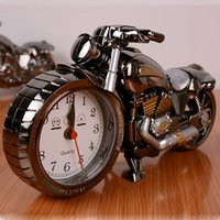 Wholesale unique The alarm clock motorcycle upgrade students gifts crafts gifts modern decorative Desk clock Clocks and watches