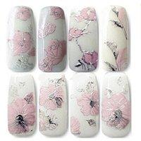 nail art supplies - Nail foils D Solid Emboss pink set decals all posted nail supplies nails art nail tips