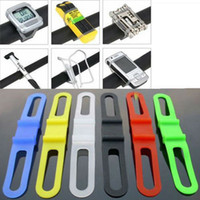 bicycle rope - Bicycle Handlebar Silicone Straps Bike Front Light Holder Phone Fixing Elastic Ties Rope Cycling Flashlight Torch Bandages