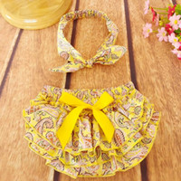 baby pjs - NEW ARRIVAL baby girl kids infant toddler flower floral bloomers shorts diaper cover lace pp pants pajamas PJS bowknot headwrap headband