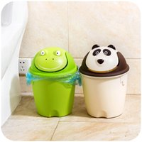 bedroom trash cans - Cartoon wave cover trash home bedroom living room bathroom trash can with a lid trash