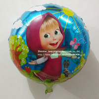 Cheap Wholesale 50pcs bag Masha and Bear series Foil balloons,Helium quality cartoon party supplies,inflatable balloon birthday gift.