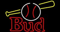 baseball bat sizing - Revolutionary Neon Super Bright Bud Baseball and Bat Neon Signs Neon Beer Signs19 quot x15 quot Available multiple Sizes