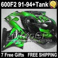 Cheap For HONDA CBR600F2 1992 1993 1991 1994 Glossy Green black CBR 600 F2 CBR600 F2 G119933 91-94 CBR 600F2 91 92 93 94 Fairing++7gifts