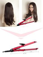Wholesale 2 in Ceramic Coating Hair Straightener Curling Iron Tong Conversion Plug order lt no tracking