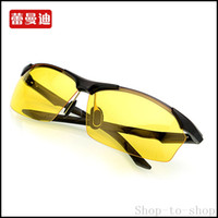 aluminum luxury goods - Luxury space aluminum alloy polarized sunglasses night vision enhanced driver goggle good quality feather light sun glasses