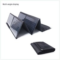 12v solar battery charger - 80W Fabric fold up solar panel chargers with DC18V USB V for v car batteries