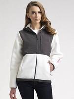 Wholesale 2016 Women s Fleece Zipper Jackets Fashion outdoor pink ribbon windproof black white jacket outwear