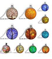 art silver jewellery - 10 off Tree of Life Necklace Pendant glass art and the thought of the tree Silver Family Christmas Style Charm Jewellery Gift
