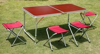 adjustable height table - 3 levels adjustable height Aluminum alloy Portable Folding Outdoor Tables For Camping Picnic