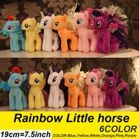 baby horses for sale - CM Rainbow MLP little horse plush toys Cartoon Animals Baby Toy for Children Gifts Wedding Gifts toys Hot sales A2