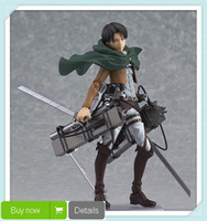 Wholesale Cool quot Attack on Titan Shingeki no Kyojin Scouting Legion Levi Boxed PVC Action Figure Model Toy Gift Figma