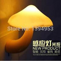 Wholesale 2015 Nightlight Lava Lamp US Plug For Creative Novelty Led Electric Induction Small Night Light mushroom Wall Lamp Bedside