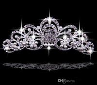 Cheap 2015 Hair Accessories Korea Shining Wedding Bridal Faux Pearl Crystal Veil Tiara Crown Headband Crown Wedding