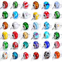Wholesale 20 wholesales Popular hot sale New mixed styles charms Chamilia Beads big hole fit bracelet DIY fashion jewelry