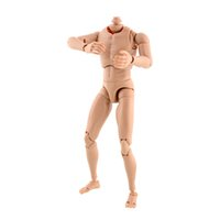 Wholesale New Version Narrow Shoulder Scale Male Action Figure Human Nude Muscular Body for TOYS TTM18 TTM19