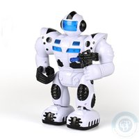 Wholesale Children s educational toys RC Space Robot Toy Cartoon Music Children electric Light fun music walk Swingably