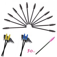 best blue eyeliner - New Set make up brush artificial fiber One Off Disposable Eyelash Brush Mascara Applicator Brush best deal
