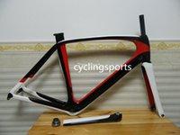Wholesale Accept customized Carbon frame K T800 carbon fiber road bike frames unpaint black white red frameset size cm