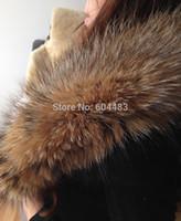 Cheap 1 piece Winter Oversized Raccoon Caps Bar Tops Qualities Large Raccoon Fur Strip Raccoon Collar