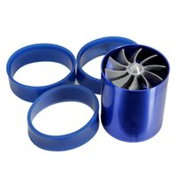 Wholesale Best Price High Quality Double Propellers Car Supercharger Turbonator Turbo Charger Air Intake Fuel Saver Turbo Fan