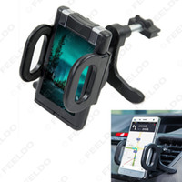 Wholesale 10pcs Black Universal Car Vehicle Air Vent Mount Phone Holder Cradle Stand For Mobile Most Phones