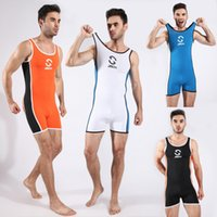 athlete workout - Men s One piece Swimsuit Full body Swimwear Sexy Wrestling singlet Gym Outfit Hot Workout Bodysuit Gymnastics Athletes Wear