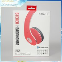 Wholesale 2016 New STN STN11 Bluetooth Headset STEREO Headphones Wireless HD Headphones On ear Headsets Earphones for iphone ipad samsung