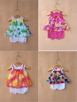 Wholesale 2015 faded glory One Piece baby girls Rompers cute and soft best for baby A15032001