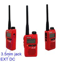 Wholesale 10pcs New W CH Walkie Talkie UHF VHF Baofeng UV R Interphone Transceiver LCD Two Way Radio Dual Band Moblie Portable A0723C