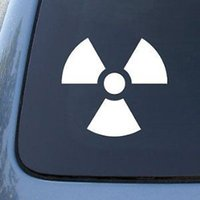atomic decals - RADIOACTIVE car decal sticker atomic bomb protected by Ak gun control sucks funny car stickers