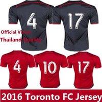 Toronto 15-16 # 10 jerseys del fútbol de Tailandia Giovinco camisetas de fútbol personalizadas Fútbol Uniformes 100% uniformes logo bordado fútbol