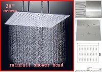 Cheap overhead shower,20 inches brushed 304 stainless steel ceiling mounted overhead shower