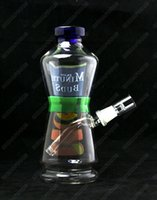 apple juice - New Minute Buds Apple Juice Coke Bottle Glass Bubbler Pipes Glass Water Pipes Two Functions Dabuccino Rig joint mm Hookahs