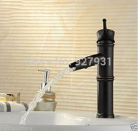 bathoom sink - and Retail Oil Rubbed Bronze Waterfall Bathoom Sink Faucets Bamboo Shape Basin Mixer Taps