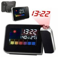 Wholesale 2015 New Arrival LED Backlight Trustworthy Projection Digital Weather LCD Snooze Alarm Clock Color Display FYSY0024A Y5
