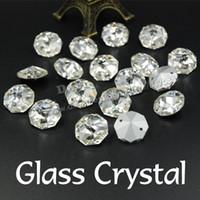 Wholesale mm Octagon Rivoli Glass Crystal Point Back Sew On Rhinestone For clothing decoration SF0200 SF0206