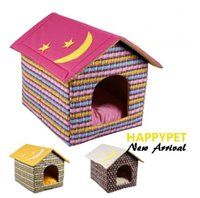 outdoor dog kennels - Lovely Pet Stars Moon Patterns House Classic Winter Bed Warm Nest NEW ARRIVAL Dog Sofa House Kennel pet home M L pink yellow coffee