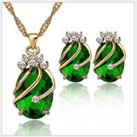accessories dinner sets - High grade zircon earrings necklace suit Europe and the United States act the role ofing is tasted Wedding dinner party accessories