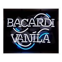 bacardi sign - BACARDI VANILA LOGO NEON SIGN HANDICRAFT REAL GLASS TUBE BEER BAR LIGHT GAME ROOM HOME x15 quot
