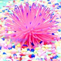 Wholesale Colorful Soft Colorful Artificial Silicone Coral Fish Tank Aquarium Decoration NVIE
