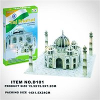 Wholesale Baby Toys Baby Kids Puzzle Toys Fashion Kids D Taj Mahal Mode Puzzle Hot Children the Famous Building Model Educational Toys
